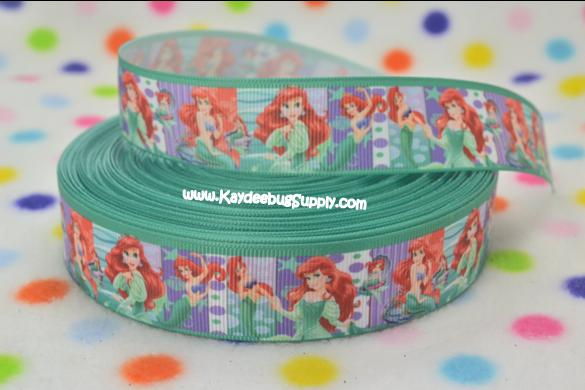 Princess Ariel - Little Mermaid - Aqua Turquoise - 1 inch-little, mermaid, disney, ariel, princess, fish, princesses, fish, water,
