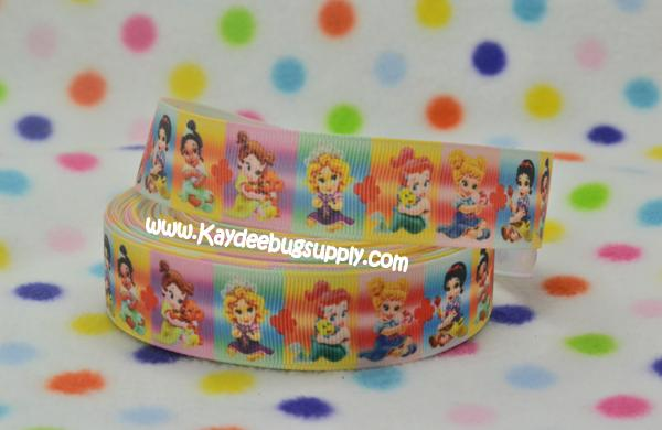 Disney Princesses - Baby Princesses - 1 inch-cinderella, princess, princesses, disney, blue, dress, fairy, tale, fairytale, glitter, dancing, snow, white, tiana, ariel, pocahontas, mulan, jasmine, snow white, sofia, sophia, the, first, 1st, sofia the 1st, sofia the first, baby, babies, ribbon