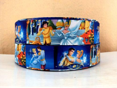 Cinderella Dancing - BLUE - 1 inch-cinderella, princess, princesses, disney, blue, dress, fairy, tale, fairytale, glitter, dancing