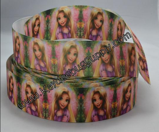 Princess - Rapunzel - GREEN - 1inch-disney, movie, tangled, princess, rapunzel