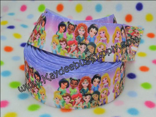 Toddler Princesses - PURPLE -1.5 inch-toddler, princess, princesses, tiana, snow white, aurora, rapunzel, ariel, merida, belle, jasmine, mulan, pocahontas,