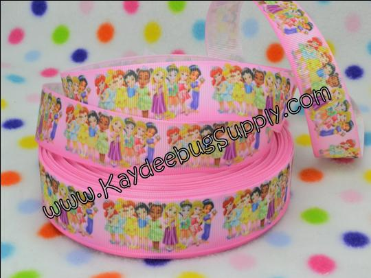 Toddler Princesses - - Fullbody - PINK -1 inch-toddler, princess, princesses, tiana, snow white, aurora, rapunzel, ariel, merida, belle, jasmine, mulan, pocahontas,