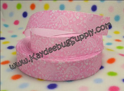 Paisley - Pink - 1 inch-paisley, print, pink