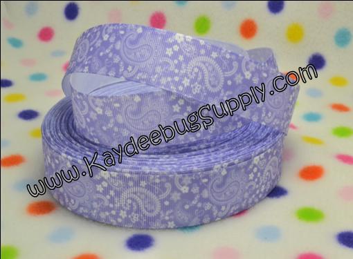 Paisley - Purple - 1 inch-paisley, print,purple