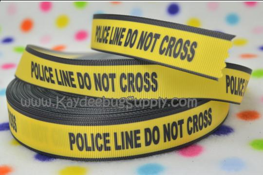 Police Line Do Not Cross - 7/8 inch-unique, crude, rare, adult, police, scene, do not, cross, chalk, outline, halloween, dead, murder, murderer, murdered, line