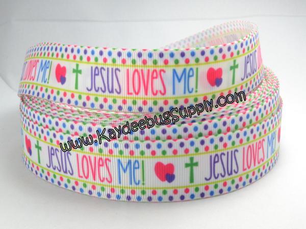 Jesus Loves Me - 7/8 inch-religion, religious, church, god, jesus, christ, loves, me, jesus love me, jesus loves me