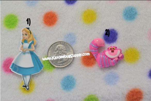 Alice in Wonderland or Cheshire Cat - Flatback Resin Cabochon-alice in wonderland, alice, wonderland, disney, movie, queen of hearts, mad hatter, cheshire, cat, white rabbit, tweedle dee, dum, tweedle, dee,  dinah, rose and the flowers, march hare, decoden, flatback, resin, flat, backs, resins, cabochons, cabochon, flatbacks, bow, center, centers, charm, pendant, pendants, charms, back, kawaii, decodens