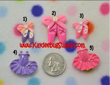 Ballet Dress & Slippers - Pink or Purple - Flatback Resin Cabochon-dance, jazz, tap, ballet, ballerina, dress, shoes, slipper, shoe, slipper, Flatback, Resin, Cabochon, Bow, Centers, Appliques, Charms, Pendant, cabochons, flat, back, backs, flatbacks, center, resins, decoden,
