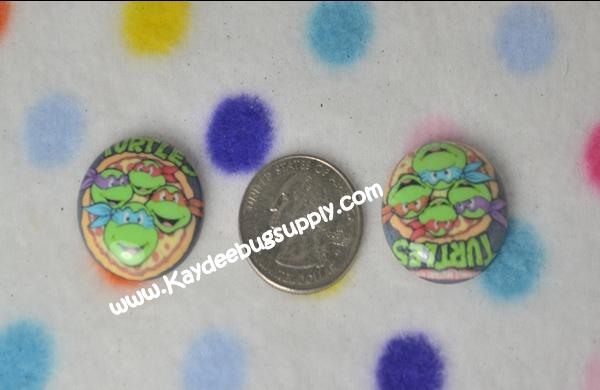 Ninja Turtles - Flatback Resin Cabochon-decoden, flatback, resin, flat, backs, resins, cabochons, cabochon, flatbacks, bow, center, centers, charm, pendant, pendants, charms, back, ninja, turtle, turtles, Shredder, Donatello, Leonardo, Raphael, Krang, Michelangelo,