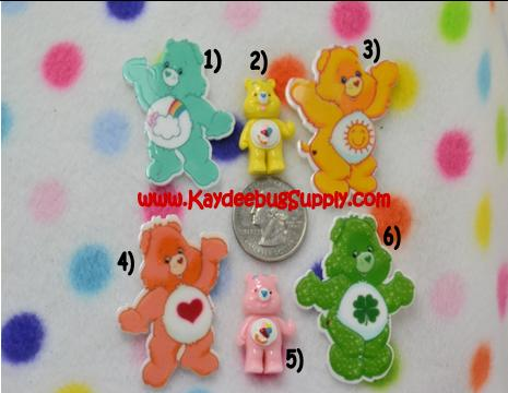 Care Bears - Pink or Yellow - Flatback Resin Cabochon-key, fob, pink, black, white, ribbon, logo, Flatback, Resin, Cabochon, Bow, Centers, Appliques, Charms, Pendant, cabochons, flat, back, backs, flatbacks, center, resins, cellphone, decoration, cell, phone, case, back, care, bear, bears, carebear, carebears, teddy,