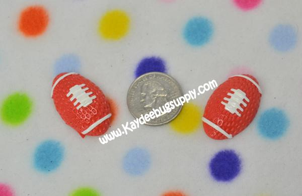Football - Flatback Resin Cabochon-decoden, flatback, resin, flat, backs, resins, cabochons, cabochon, flatbacks, bow, center, centers, charm, pendant, pendants, charms, back, Nleague, team, teams, sport, sports, boy, boys, bat, pet, collar, key, fob, team, teams, sport, sports, foot, ball, balls, football,  NFL, ribbon