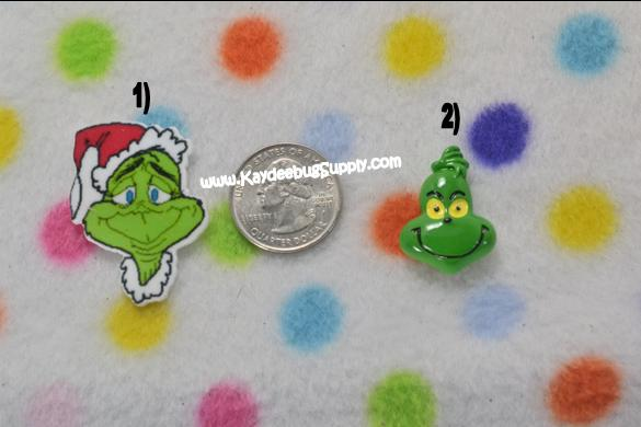 Grinch - Flatback Resin Cabochon-christmas, xmas, holiday, santa, claus, st nick, nick, snow, winter, ribbon, grinch, mean, green, red, dots, hat, hats,  flatback, resin, flat, backs, resins, cabochons, cabochon, flatbacks, deco, decoden, bow, center. centers, charm, pendant, pendants, decoden, flatback, resin, flat, backs, resins, cabochons, cabochon, flatbacks, bow, center, centers, charm, pendant, pendants, charms, back, kawaii, decodens