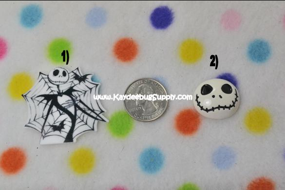 Jack Skellington - Flatback Resin Cabochon Decoden-movie, jack, skellington, nightmare, before, christmas, halloween, pumpkin, pumpkins, scary, zero,  Harlequin, purple, ribbon, halloween, Flatback, Resin, Cabochon, Bow, Centers, Appliques, Charms, Pendant, cabochons, flat, back, backs, flatbacks, center, resins