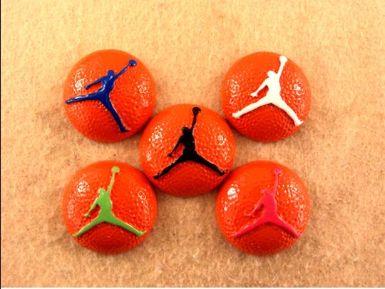 Jordan Jumpman Basketballs - Flatback Resin Cabochon-flatback, resin, flat, backs, resins, cabochons, cabochon, flatbacks, bow, center, centers, charm, pendant, pendants, charms, back, lady, bug, bugs, ladybug, ladybugs