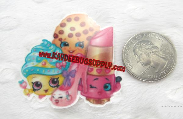 Shopkins - Flatback Resin-shopkins, shoppies,  Jessiecake, Popette, Bubbleisha, Cupcake Queen, Kooky Cookie, Strawberry Kiss, Gemma Stone, Apple Blossom, Breaky Crunch, Lippy Lips, Cheeky Chocolate, decoden, flatback, resin, flat, backs, resins, cabochons, cabochon, flatbacks, bow, center, centers, charm, pendant, pendants, charms, back, kawaii, decodens, shrink dink, planar, planar resin