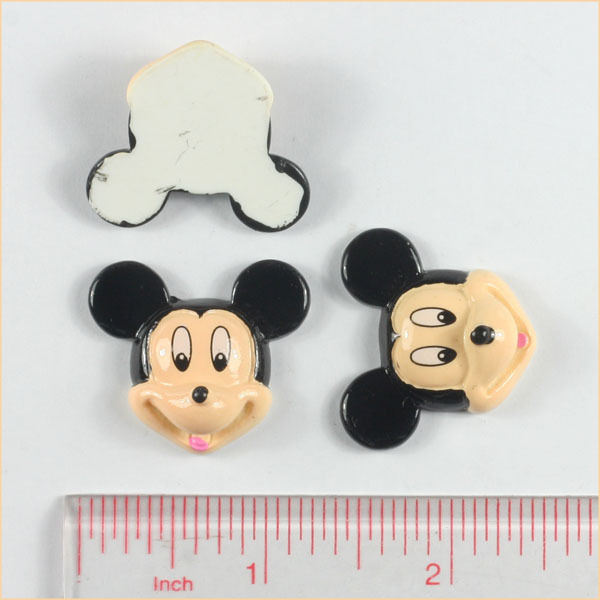 Mickey Mouse - Flatback Resin Cabochon-mickey, mouse, disney, world, walt, clubhouse, decoden, flatback, resin, flat, backs, resins, cabochons, cabochon, flatbacks, bow, center, centers, charm, pendant, pendants, charms, back,