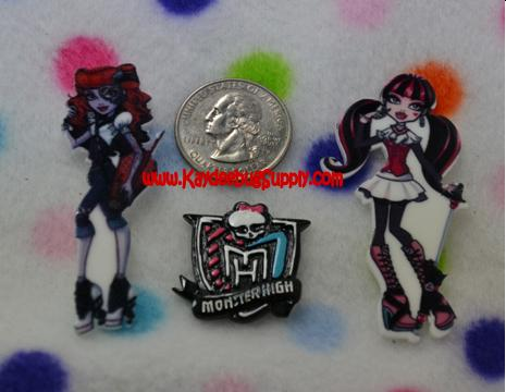 Monster High - Clawdeen Wolf, Logo or Draculaura - Flatback Resin-monster, high, scaris, school, zombie, skull, skulls, draculaura,decoden, flatback, resin, flat, backs, resins, cabochons, cabochon, flatbacks, bow, center, centers, charm, pendant, pendants, charms, back, clawdeen, wolf, clawdeenwolf, claudia, movie, logo