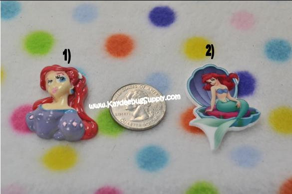 Ariel - Little Mermaid - FULLBODY - Flatback Resin Cabochon-little, mermaid, disney, ariel, princess, fish, princesses, fish, water,, flatback, resin, flat, backs, resins, cabochons, cabochon, flatbacks, decoden, flatback, resin, flat, backs, resins, cabochons, cabochon, flatbacks, bow, center, centers, charm, pendant, pendants, charms, back, kawaii, decodens