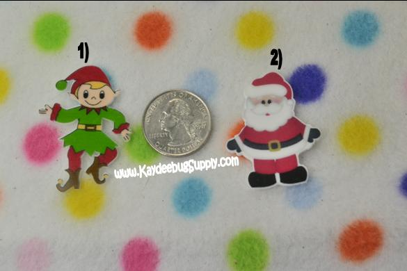 Santa Claus or Elf - Flatback Resin-decoden, flatback, resin, flat, backs, resins, cabochons, cabochon, flatbacks, bow, center, centers, charm, pendant, pendants, charms, back, kawaii, decodens, elf, santa, claus,