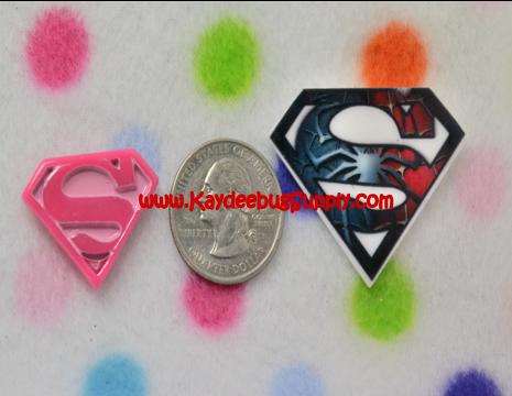 Superman - Flatback Resin Cabochon Decoden-key, fob, pink, black, white, ribbon, logo, Flatback, Resin, Cabochon, Bow, Centers, Appliques, Charms, Pendant, cabochons, flat, back, backs, flatbacks, center, resins, cellphone, decoration, cell, phone, case, super, man, superman, logo, hero, superhero, s on my chest, blue, boys ribbon, boy, batman, clark, kent, clark kent, spiderman