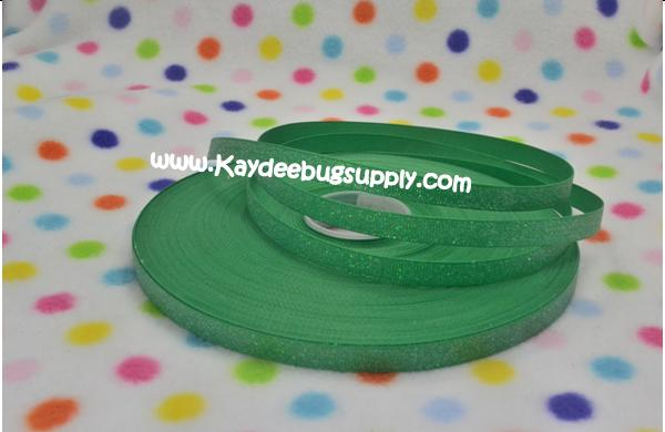 SOLID Green Glitter - 3/8 inch-solid, GREEN, glitter,