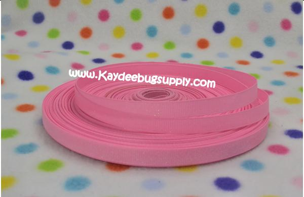 SOLID Pink Glitter - 3/8 inch-solid, pink, glitter,