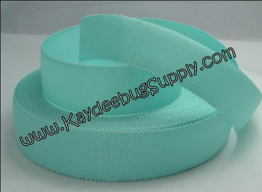 Solid - Aqua Glitter - Scalloped Edge - 1 inch-solid, aqua, wave, scalloped, scallop, edge, glitter, tiffany,