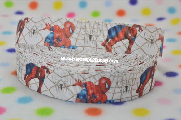Spiderman - 1 inch-spider, web, man, spiderman, super, hero, superhero, boys , ribbon
