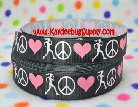 Track - Love Peace Run - Black - 7/8 inch-sport, sports, love, peace, run, track, marathon