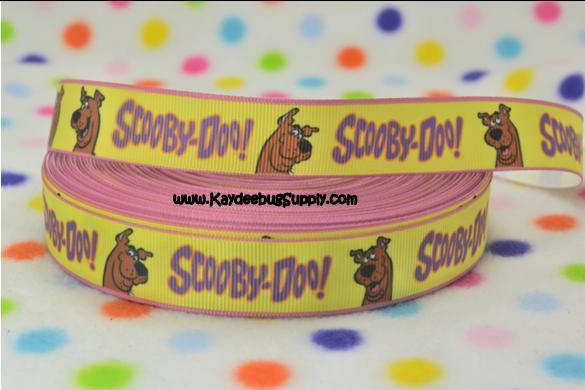 Scooby Doo - YELLOW - 7/8 inch-scooby, doo,