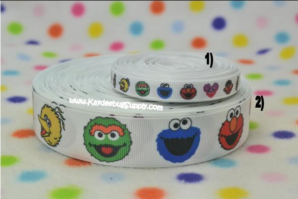 Sesame Street - Elmo, Bird Bird, Bert, Ernie, Abby - 1 inch-sesame street, sesame, street, abby, cadabby, ABC, ABCs, purple, girly, elmo, big bird, bert, ernie,