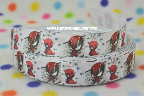 Spiderman Baby - 1 inch-spider, web, man, spiderman, super, hero, superhero, boys , ribbon, baby, shower, birthday, party