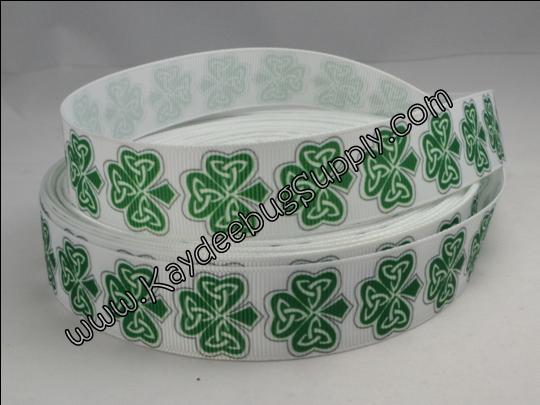 Celtic Shamrock - 7/8 inch-st. patricks day, patrick's, st. patrick's day, day, green, celtic, shamrock, lucky, clover, leaf, holiday,