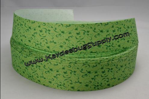Green Holly - 1 inch-st. patricks day, patrick's, st. patrick's day, day, green, celtic, shamrock, lucky, clover, leaf, holiday, ireland, irish, mustache, chevron, holly, swirl, swirly, swirls,