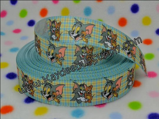 Tom & Jerry - 1 inch-tom, jerry, cartoon, cat, mouse, boys, boy, ribbon