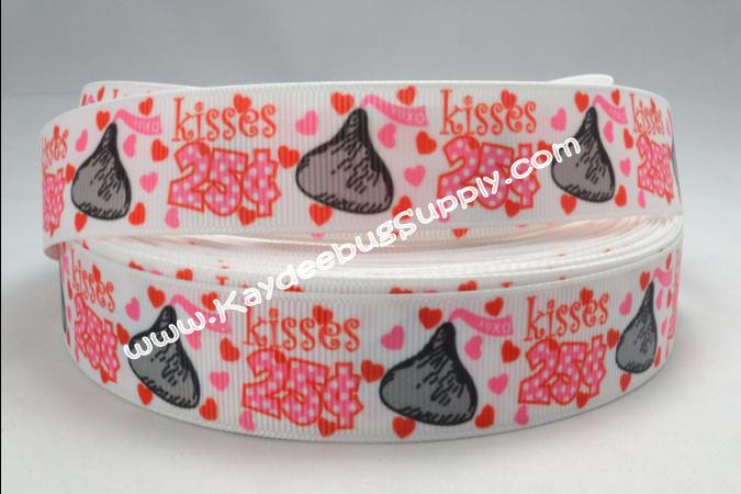 Kisses 25 Cents - Valentines - 7/8 inch-holiday, valentines,  valentine, day, kisses, vday, cupid, cents