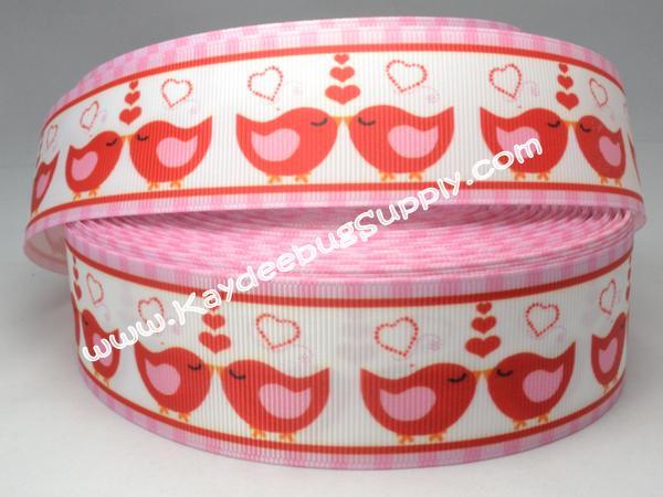 Love Birds - 1.5 inch-love, birds, bird, heart, hearts, v-day, valentines, valentine, pink, red, 38mm