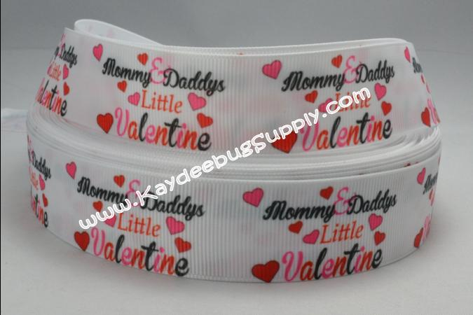 Mommy & Daddy's Little Valentine - 1 inch-holiday, valentines, mommy, daddy, valentine,